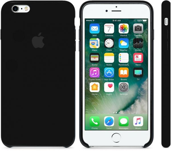 Apple Silicone case for iPhone 6 Plus   6S Plus - Black  3bb343a1a32ef