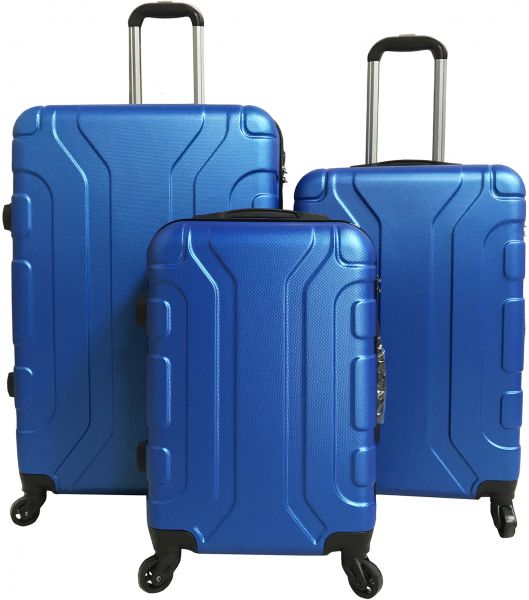 40188e396 Le Voyageur 4 Spinner Wheel 3 Piece Luggage Trolley Bag Set - Blue ...