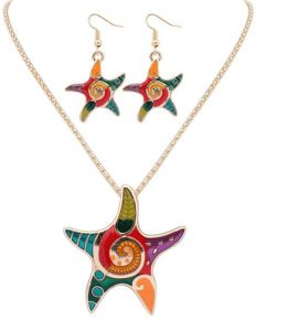 Woman's alloy necklaces/earings jewelry set
