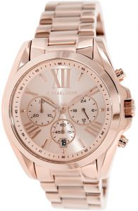 Michael Kors Bradshaw Women's Rose Gold Dial Stainless Steel Band Watch MK5503