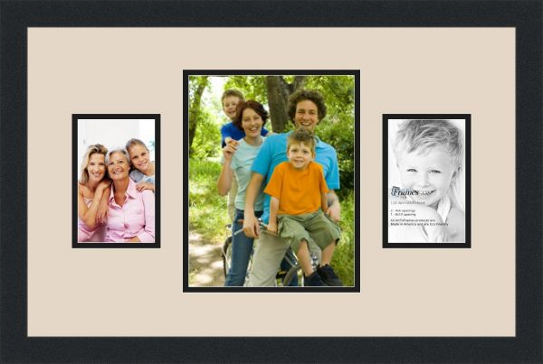 ArtToFrames Collage Photo Frame Double Mat with 3 Openings and Satin ...