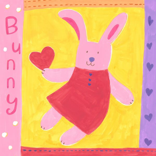Oopsy Daisy Love Bunny Stretched Canvas Wall Art by Kaori Watanabe ...