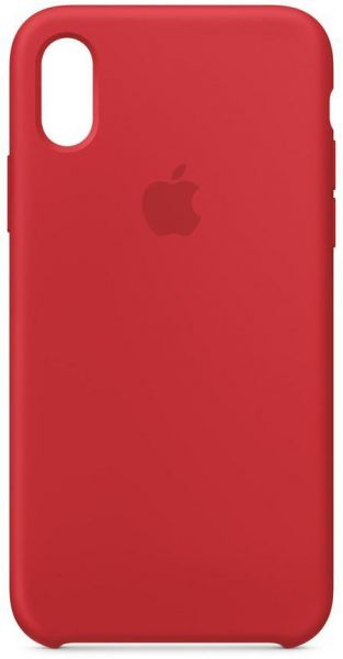 Apple iPhone X Silicone Case - Red, MMWF2ZM/A