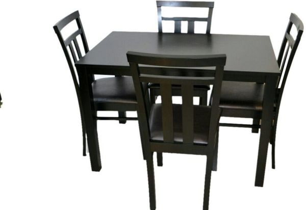 Four Seater Dining Table with leather seating Chairs  5aa3a2eb6