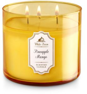 Bath And Body Works White Barn Pineapple Mango Scented Candle 411g