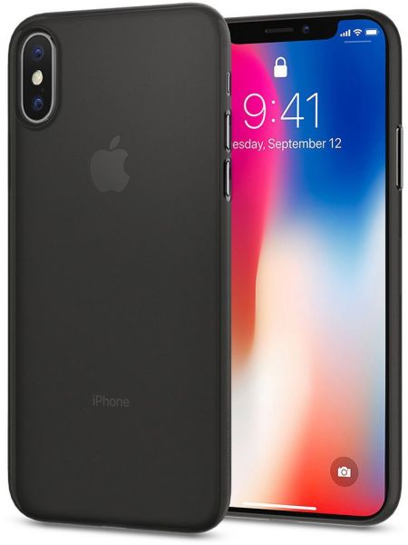wholesale dealer 4b830 ca89b Spigen iPhone X Air Skin cover / case - Black