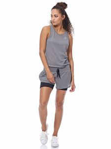 Adidas Loose Romper For Women - Grey