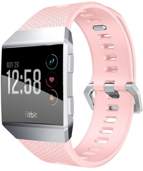 Details About Replacement Silicone Sport Metal Band Wristband Strap For Fitbit Ionic Bracelet Pink