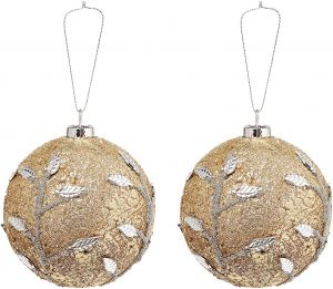 Christmas Dlx Decorated Balls 2 Pieces