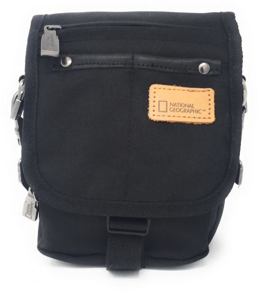 979c590524a8 National Geographic N11702.06 Crossbody Bag for Men - Canvas, Black