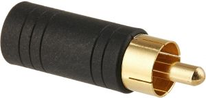 Gold Plated Monoprice 107241 RCA Plug to 3.5mm Stereo Jack Adaptor