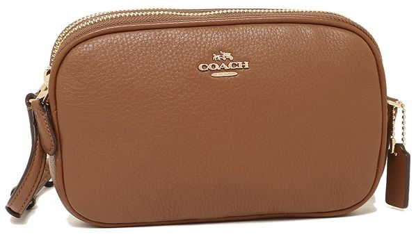 Coach F65988 Imsad Pebble Leather Crossbody Pouch Shoulder Bag In Saddle