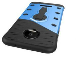 timeless design 0e73a 0190f The Moto M back cover with 360-degree rotating bracket, black & blue