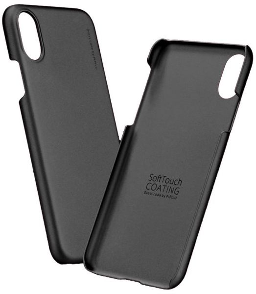 new style 314a9 d42ea X-level Metallic Series Hard Back Case Cover for Apple iPhone X in Black
