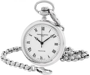 c168e0747 Frederique Constant Unisex White Dial Stainless Steel Pocket Watch -  FC-700MC6PW6