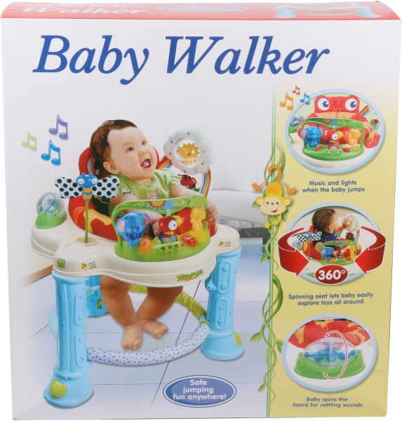 55605f4c7 Baby Walker Bouncer Rocking Chair For Unisex - Blue and Beige 200652 ...