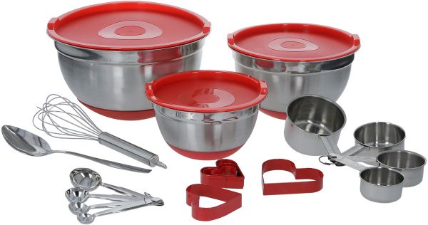 Fns 21 Piece Stainless Steel Prep Store Kitchen Set Souq Uae