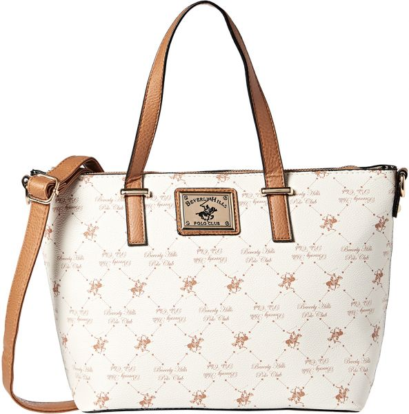 Beverly Hills Polo Club Satchel Bag For Women White