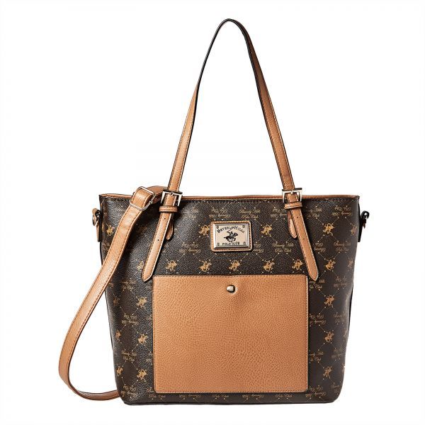 Beverly Hills Polo Club Tote Bag For Women Brown