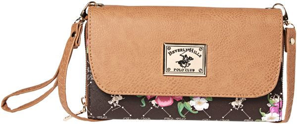 Beverly Hills Polo Club Clutch For Women Brown