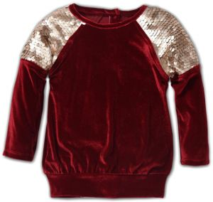 db5d8222a6 Little Kangaroos Maroon Round Neck Tube Top For Girls