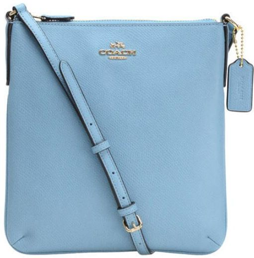 9ad5b1b066a3 Coach North South Blue Jay Crossgrain Leather Crossbody Bag F36063 IMEP4