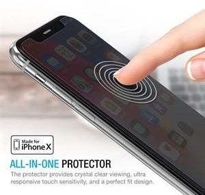 iPhone X Screen Protector, Maxboost (Privacy Black, 3 Packs)