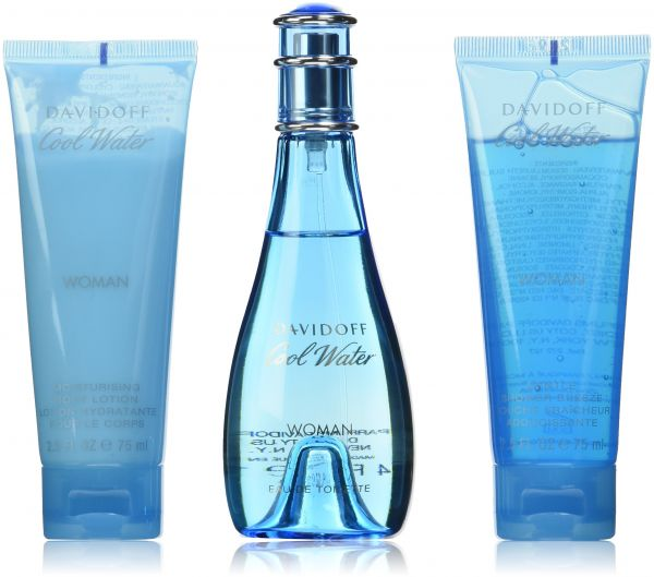 Cool Water Coffret: Eau De Toilette Spray 100ml/3.4oz + Moisturising Body Lotion 75ml/2.5oz + Gentle Shower Breeze 75ml/