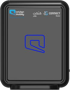 Mobily 4G Router with Internet SIM Card 600 GB for 6 Month - Black