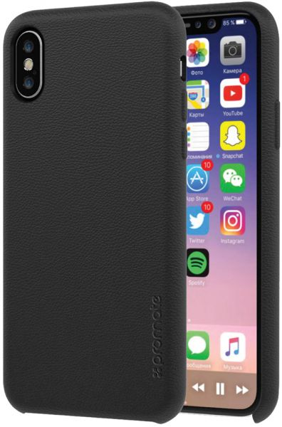 watch 38dcd fa4f1 Promate iPhone X Case, Premium Genuine Leather Slim Shock Absorbing Case  with Drop Protection and Excellent Grip 5.8 Inch Apple iPhone X / iPhone  10, ...