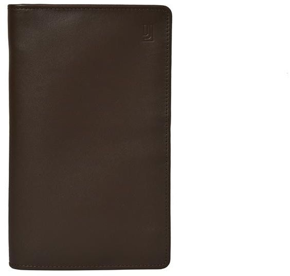 Jafferjees Brown Leather For Unisex Passport Wallet Souq Uae
