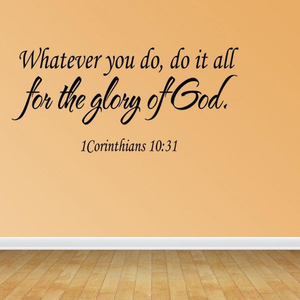 Religious Wall Quote Letters Whatever You Do Do It All For The