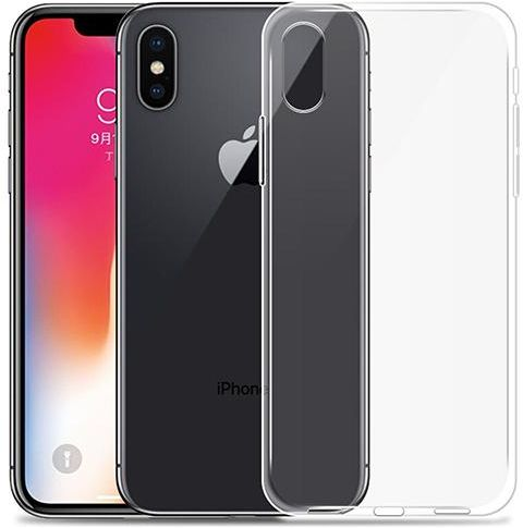 buy popular 5c8d6 4eaac Slim Transparent Ultra-Thin TPU Protective Case Cover for Apple iPhone X  Clear SAPU