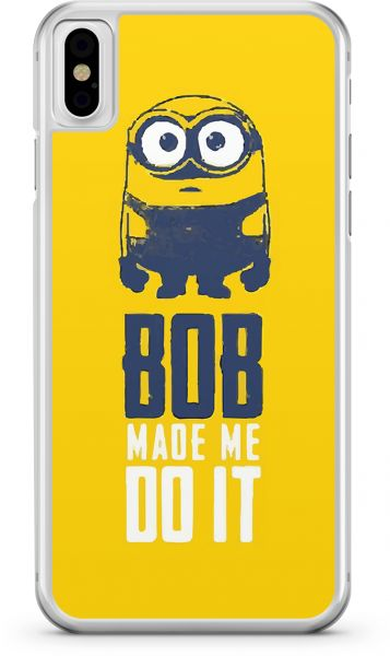 Apple iPhone X Transparent Edge Minion Bob Made Me Do It - Multi Color
