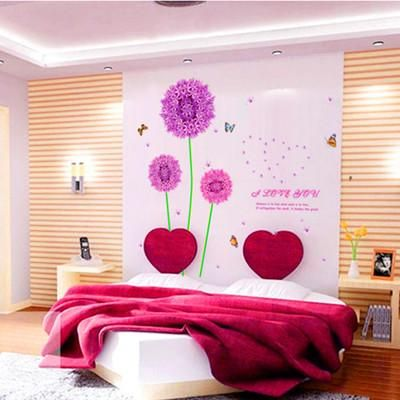 Living room purple dandelion wall stickers price, review and buy in ...