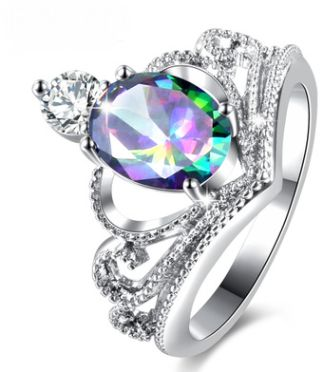 Crown European and American personality ring female