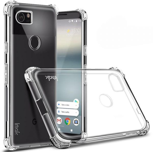 finest selection 15ca6 ced2b Imak Google Pixel 2 XL - Shockproof Soft Case Cover With Screen Protector  Clear