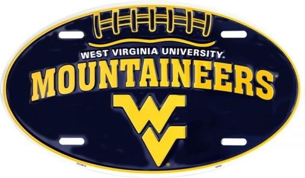 Mountaineer Oval License Plate Signs 4 Fun SLO70019 WV Univ