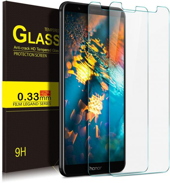 Huawei Honor 7x 2 Pack Ultra Thin 9h Anti Scratch Tempered Glass Screen Protector Guard