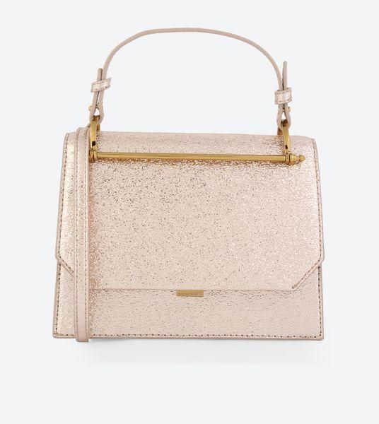 Charles Keith Structured Cross Body Bag Rose Gold