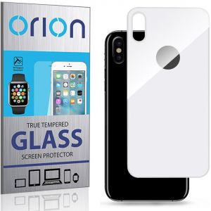 Orion Tempered Glass Screen Protector (Back) For iPhone X - White