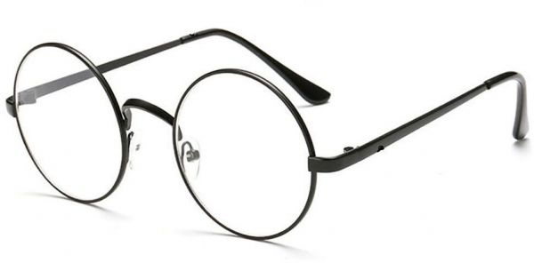 Unisex Vintage Oval Frame Eyeglass Plain Glass Clear Full-Rim Spectacles