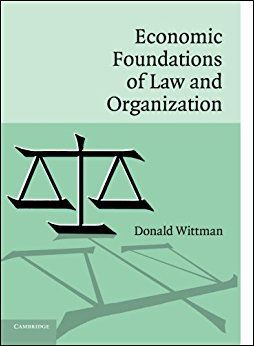 Economic Foundations Of Law And Organization  Pb.