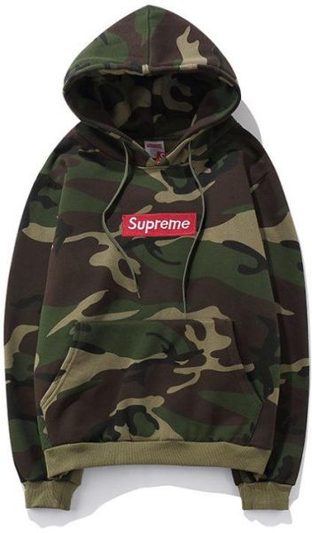 2bf7e045f3ac Supreme Army Green Round Neck Hoodie   Sweatshirt For Unisex
