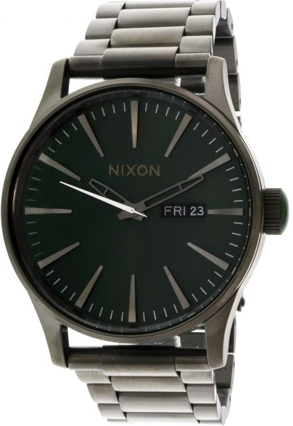falcon ss nixon model watch steel color s sentry men stainless sw toned watches fashion millenium silver gunmetal casual quartz