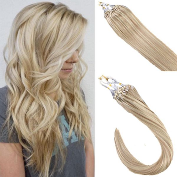 Souq Laavoo 16 Inch Micro Loop Ring Extensions Color Ash Brown 18