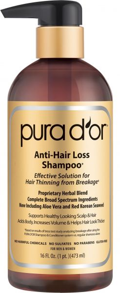 Pura D Or Anti Hair Loss Shampoo Gold Label Effective Solution