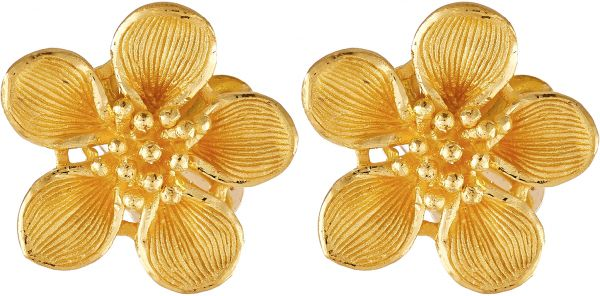 Prima Gold Women S 24k Solid Stud Earrings