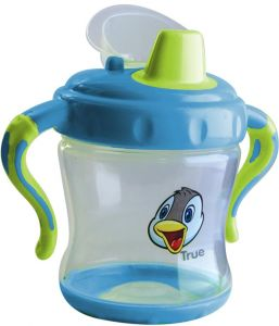 88001bf94c7 non-spill cup -hard spout-( 6+)months 250 ml - blue and green (BPA free)