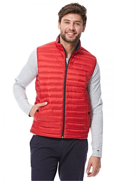 4f71a50dae4eb Tommy Hilfiger Puffer Jacket for Men - Red